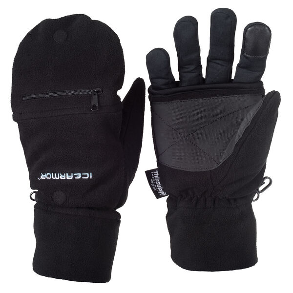 Clam Ice Armor Deluxe Fold Back Mitts, Large