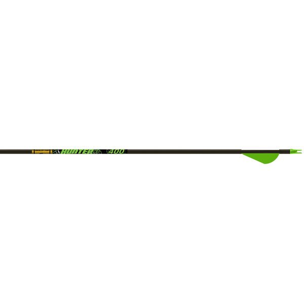 "Gold Tip Hunter XT Arrows with 2"" Raptor Vanes, 400, 6-Pack"
