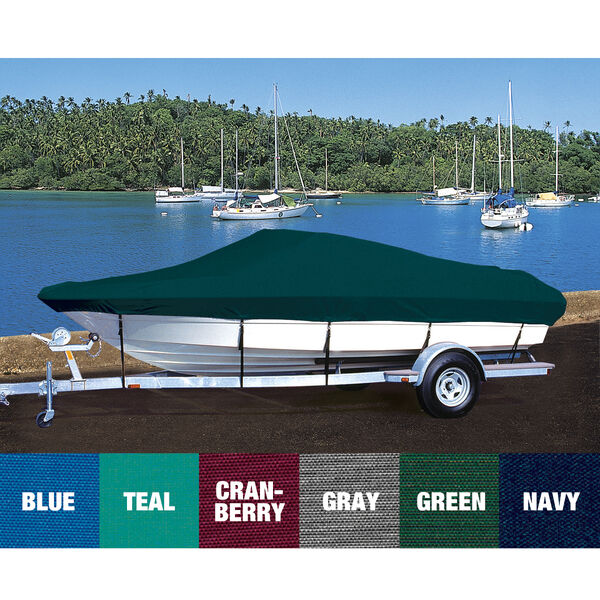 Trailerite Hot Shot-Coated Boat Cover For Boston Whaler 17 Outrage O/B w/Rails