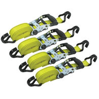 "XL Grip 12'L x 1 ½""W Ratchet Tie Downs, 4-Pack"