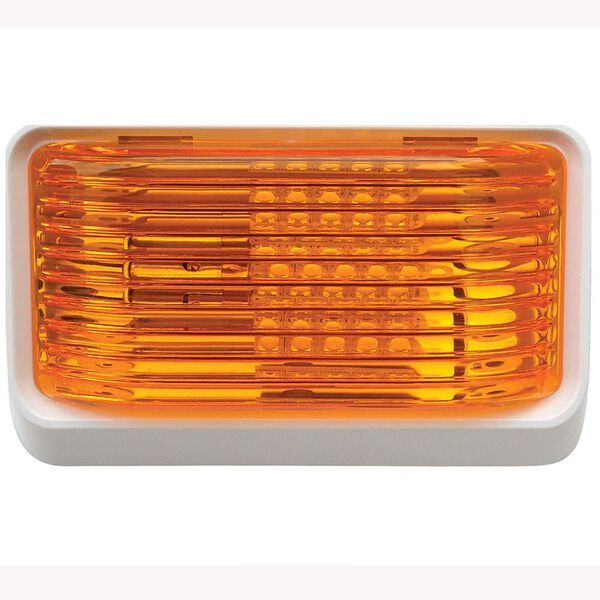 Rectangular White with Orange Lens, No Switch