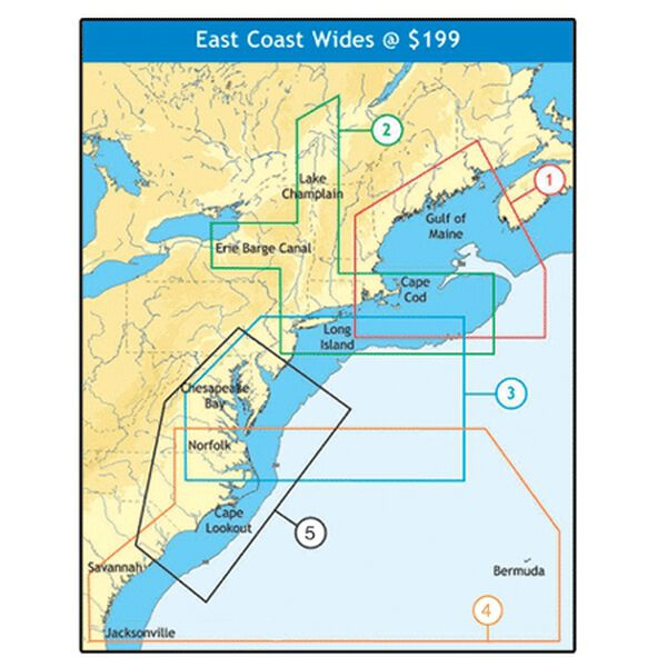 C-MAP NT+ Wide Map, Cape May To Winyah Bay