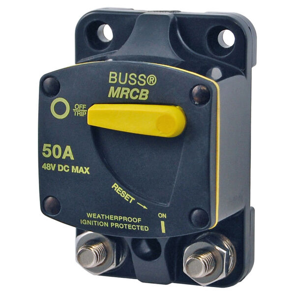 Blue Sea 187-Series Thermal Circuit Breaker, Surface-Mount, 90A