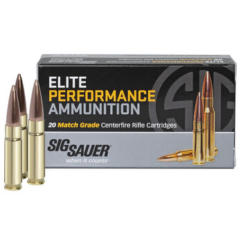 SIG Sauer Elite Performance Match Ammo, .300 AAC Blackout, 125-gr., Supersonic