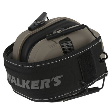 Walker's Razor Patriot Series Slim Shooter Folding Electronic Earmuff, FDE
