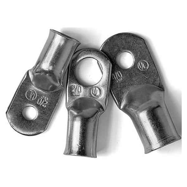 "Ancor Tinned Copper Lugs, 6 AWG, 5/16"" & 3/8"" Screws, 1-Pk."