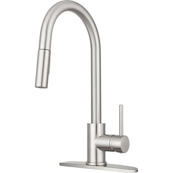Touch Sensor Pull-Down RV Kitchen Faucet, Satin Nickel