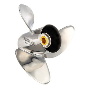 Solas 3-Blade Propeller, Pressed Rubber Hub / Stainless Steel, 13.3 dia x 19 RH