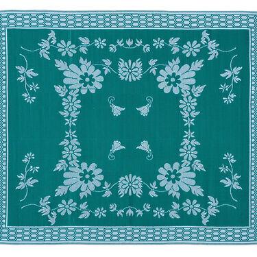 Reversible Floral Design Patio Mat