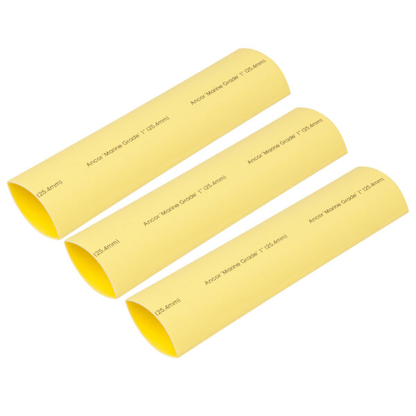"""Ancor Adhesive-Lined Heat Shrink Tubing, 2 - 4/0 AWG, 6"""" L, 3-Pk., Yellow"""
