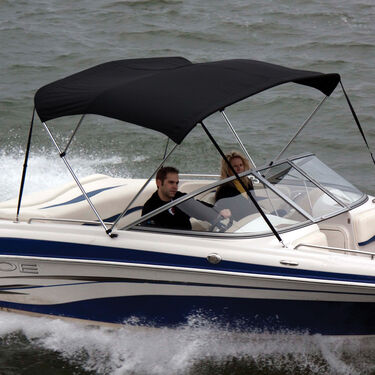 Shademate Sunbrella Stainless 3-Bow Bimini Top 6'L x 46''H 61''-66'' Wide