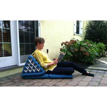 Triangle Lounger Chair, Blue/Black