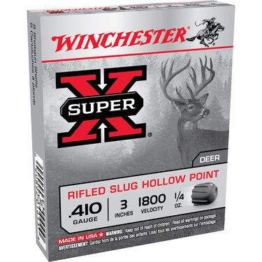 "Winchester Super-X Rifled Slug Shotshells, .410 Bore, 3"", 1/4-oz."
