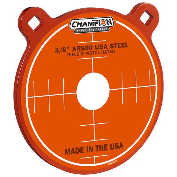 "Champion Targets Center Mass 3/8"" Gong 8"" AR500 Steel Target"