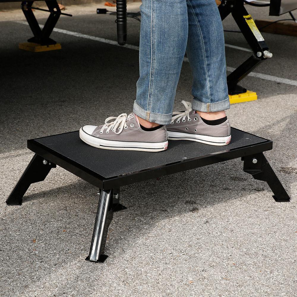 Stromberg Carlson Steel Folding Leg Platform Step Stool