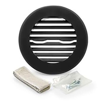 Camco Round Air Conditioning Ceiling Vent, Black