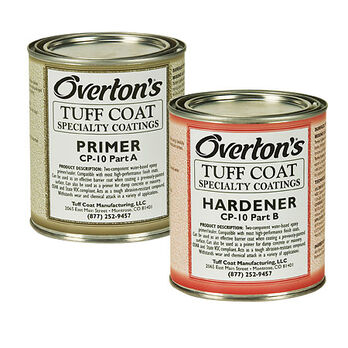 Overton's Tuff Coat Water-Based Epoxy Marine Primer and Hardener CP-10, 1 pt. ea