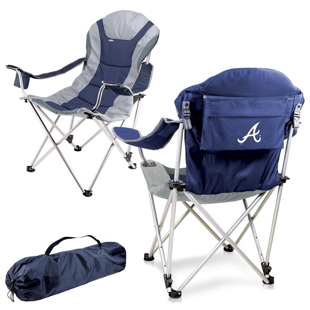 Fine Atlanta Braves Reclining Camp Chair Navy Creativecarmelina Interior Chair Design Creativecarmelinacom