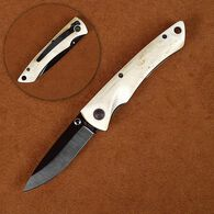 Stone River Ceramic Folding Knife with Genuine White Stag Handle