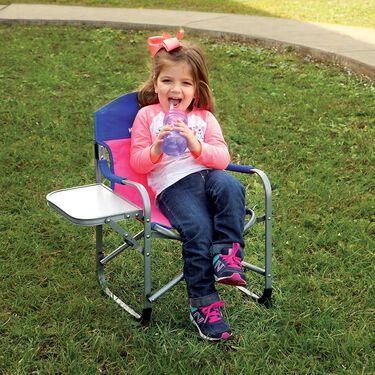 Kids' Director's Chair, Pink/Blue