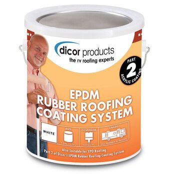 Dicor White Rubber Roof Acrylic Coating, Gallon