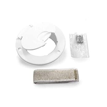 Camco Electric Cable Hatch Without Back, White