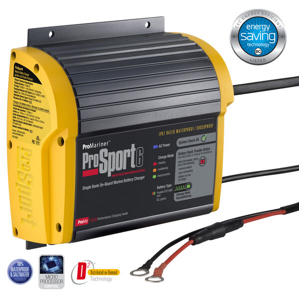 ProMariner ProSport Generation 3 Marine Battery Charger, 6-Amp/Single Bank