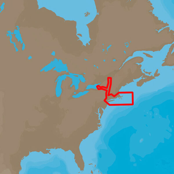 C-MAP 4D NA-D940 Cartography, Cape Cod, Long Island, And Hudson River