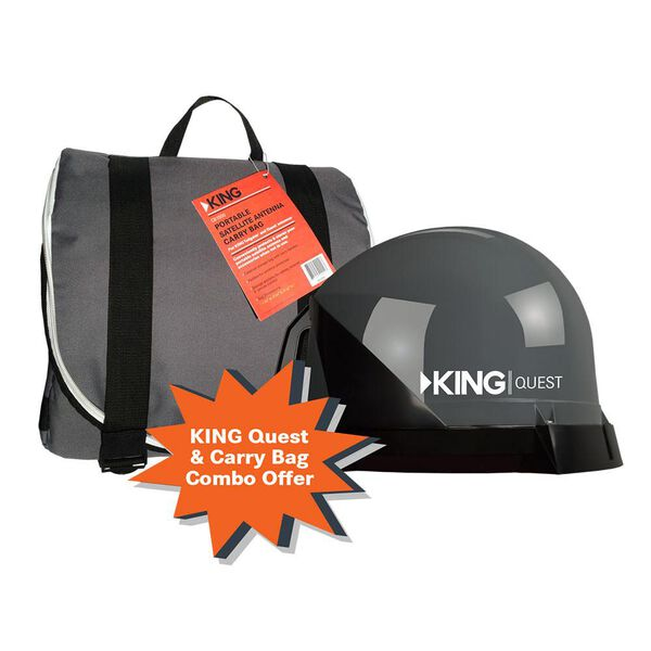 KING Quest Automatic Satellite for DIRECTV, With Travel Bag
