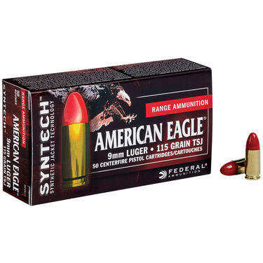 American Eagle Syntech Handgun Ammunition, 9mm Luger, 115-gr., TSJ