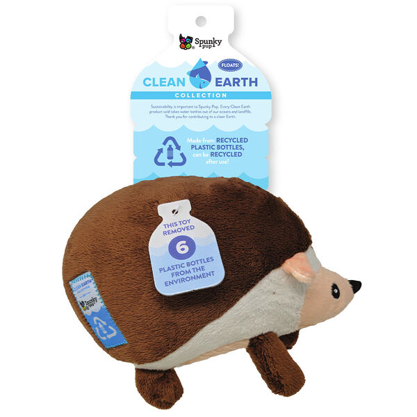 Spunky Pup Clean Earth Plush Hedgehog Toy, Large