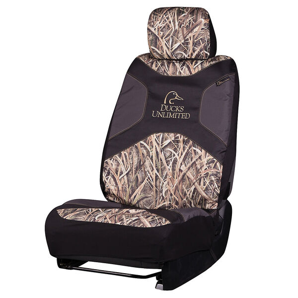 Ducks Unlimited Low-Back Seat Cover, Mossy Oak Shadow Grass Blades Camo