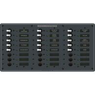 Blue Sea Systems Traditional Metal Panel, AC 24 Positions