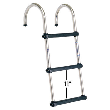 Overton's Removable Telescoping Pontoon Boat Ladder, 3-Step