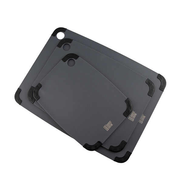 Robert Irvine 3-Piece Non-Slip Cutting Board Set, Black