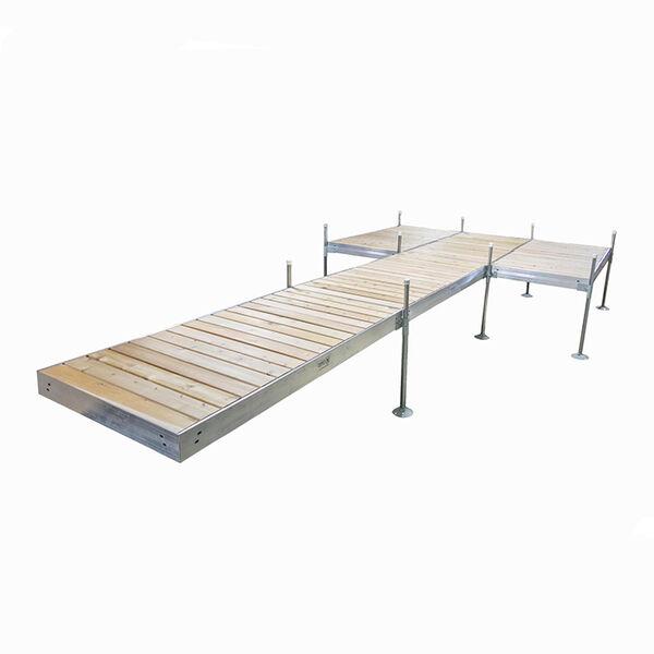 Tommy Docks 24' Platform-Style Aluminum Frame With Cedar Decking Complete Dock Package