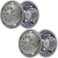 """Stainless Steel Wheel Simulators & Covers, 19.5"""" 10-lug, Set of 4"""