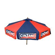 9 ft Cinzano Wood Market Umbrella