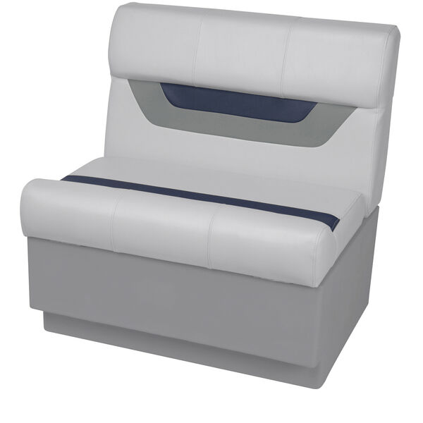 "Toonmate Designer Pontoon 27"" Wide Bench Seat, Sky Gray"