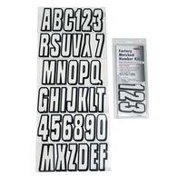 Hardline 320 Series Clear/Black Registration Kit, Block Font