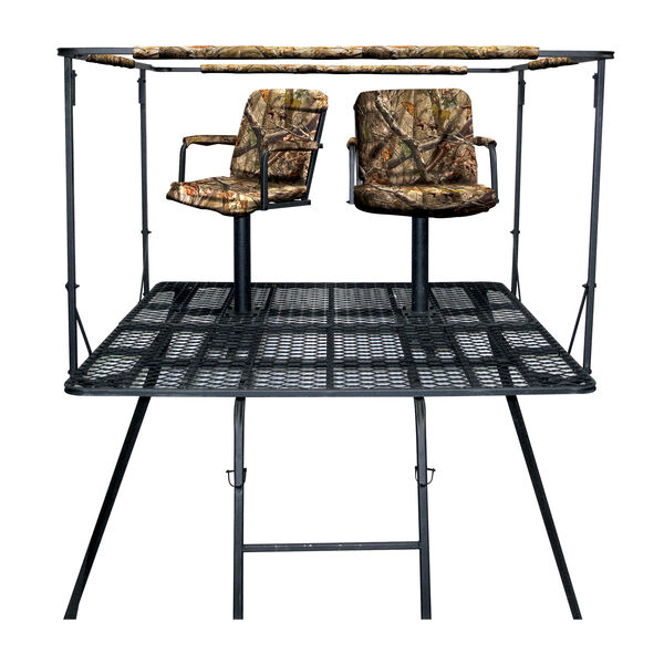 Sniper Treestands Pinnacle Quadpod Stand with Full Enclosure Blind