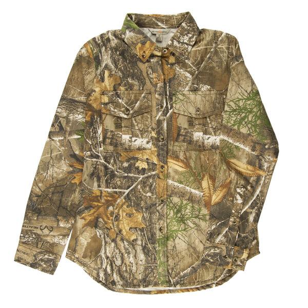 Hunter's Choice Women's Camo Button-Up Shirt, Realtree Edge