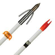 AMS Bowfishing Chaos Point Fiberglass Arrow, White