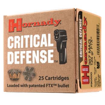 Hornady Critical Defense Handgun Ammo, .38 Spcl +P, 110-gr., FTX, 25 Rounds