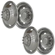 "Stainless Steel Wheel Simulators & Covers, 19.5"", Set of 4"