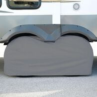 "Elements Gray Double Tire Cover, 27""-29"""