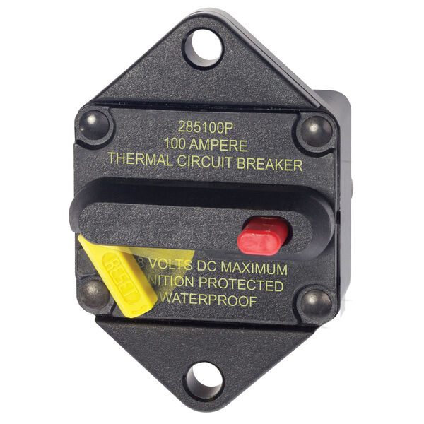 Blue Sea Systems 285 Series Circuit Breaker, Panel Mount, 100 Amp