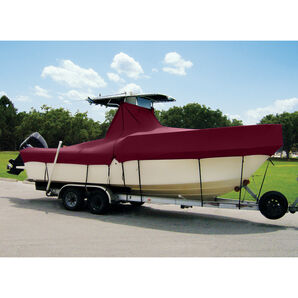 "Taylor Made Cover For Boats With Fixed T-Tops and Bow Rails, 19'4"" x 102"""