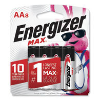 Energizer Max Alkaline Batteries, AA, 8-pack