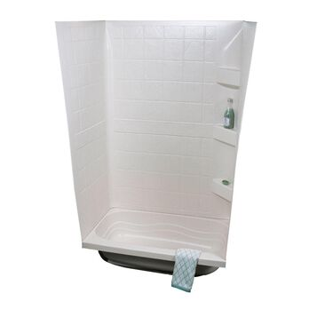 "ABS Tub Walls, 24"" x 40"" x 59"", White"